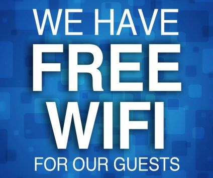 8. We have FREE wifi