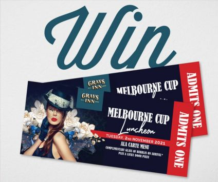 2. WIN tickets for 2 for Melbourne Cup Luncheon